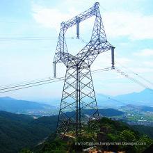 Torre galvanizada en ángulo de tipo búho de 220 kV