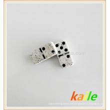 Doppelte sechs Black Marble Effect Domino