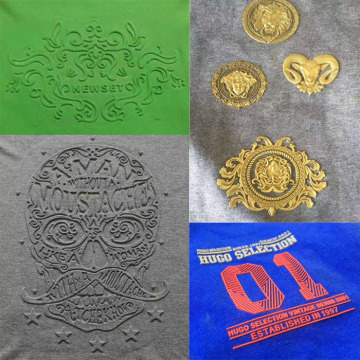 Mesin Press Pemanas Patch Garment Two Heads