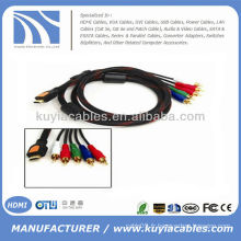 HOT 5FT 1.5M HDMI vers 5RCA 5 rca AV Cable