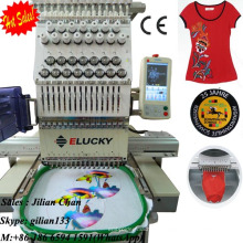 hat/cap/tubular/cylinder/t-shirt/flat embroidery single head computerized embroidery machine with prices