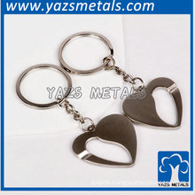 New design silver hollow out heart keychain