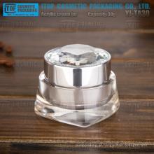YJ-TA30 30g interessante nova chegada cristalinas alto brilho acrílico frasco 30ml