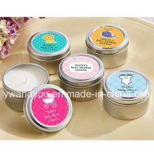 Bougie parfumée décorative de cadeau de cire de soja dans l'étain