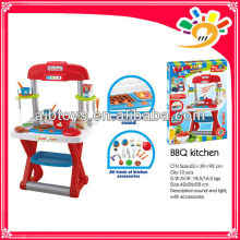 Attractive Pretend Dining Set BBQ Tools Set With Light And Music For Kids Play