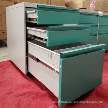 Colorful office furniture equipment for A4 file mobile pedestal cabinet