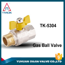 TMOK marca macho feminino BSP / NPT cw617n válvula de esfera para gás niquelado PN25 médio pressão CE hidráulico porta cheia controle valv