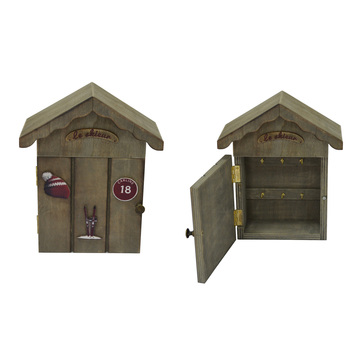 Античная деревянная коробка для дома брелок