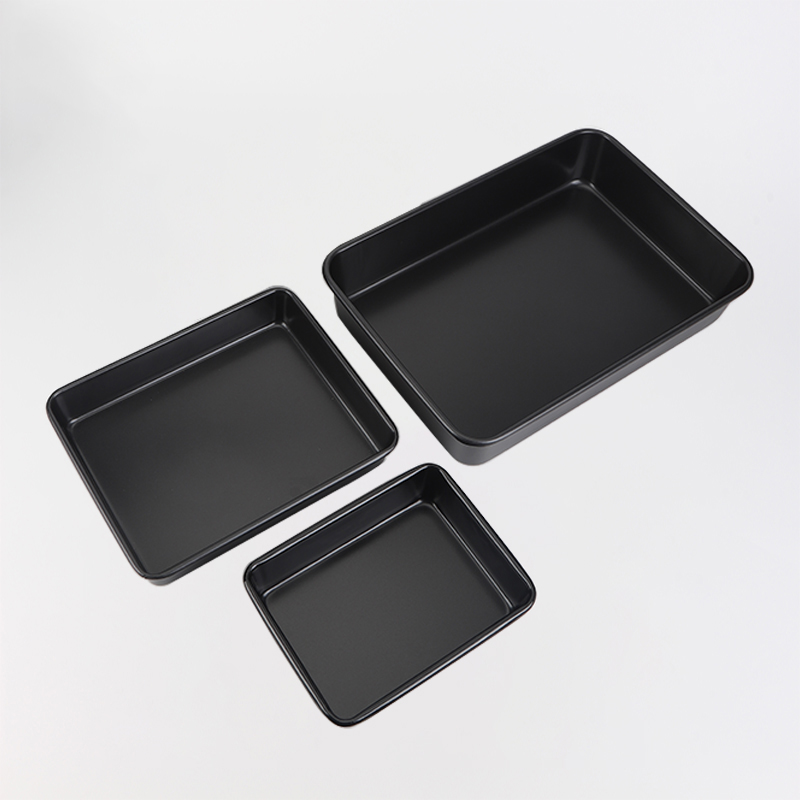 "11""13""16""rectangular carbon steel cake pan-black (1)"