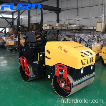 Factory Sell 1.5 Ton Water Cooling Diesel Engine Compactor Vibratory Roller