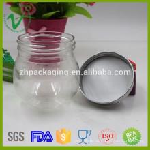 Transparente Lebensmittelqualität PET kleine runde Kunststoffbehälter für Süßigkeitenverpackung
