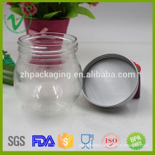 200ml high quality round empty food plastic bottle for candy packaging