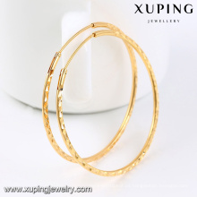 92435-Xuping Beautiful Ladies 18k aretes redondos grandes