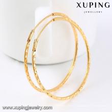 92435-Xuping Beautiful Ladies 18k big round earrings hoop