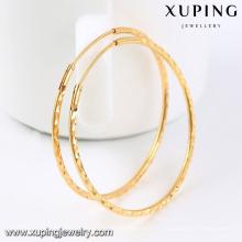 92435-Xuping красивые дамы 18k большие круглые серьги обруча