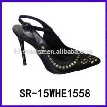 Las sandalias del alto talón de las muchachas de las sandalias del alto talón de las muchachas SR-15WHE1558 últimas sandalias del alto talón forman los zapatos de vestido de la señora