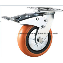 100mm Swivel Plastic Core PU Heavy- Duty Caster