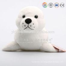 Selo de pelúcia branco, brinquedos de selo de bebê