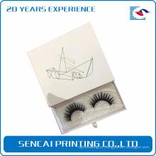 Caixa de presente de papelão de dobramento de papelão de luxo personalizado caixas de embalagem de cílios