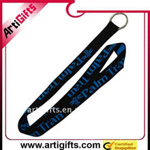 Jacquard lanyard string with plastic buckle and metal hook