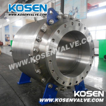 API Forged Steel Flange Trunnion Ball Valves with Gear Box