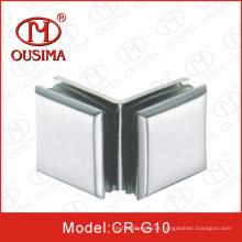 Liga de zinco duplo lado 90 graus de vidro para fixação de vidro braçadeira (CR-G10)