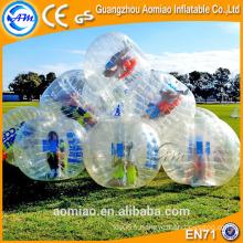 TPU balle de pare-chocs achat / équipement de football à bulle / bulle gonflable à bulle
