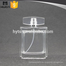 Botella de perfume de cristal vacía transparente 100ml