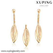 64026-Xuping Gold Jewelry Sets ,Fashion Brass Jewelry Set with 18K Gold Plated