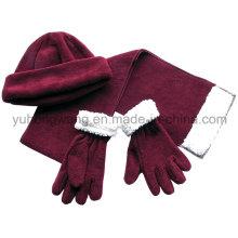 Winter Warm Lady Knitting Polar Fleece Set