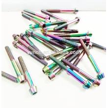 Custom color anodized titanium screw in China