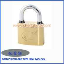 Alta Qualidade Impermeável Banhado A Ouro Arco Tipo Cadeado De Ferro