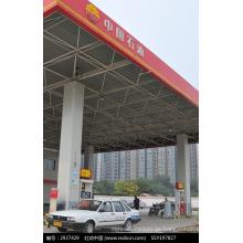 Vorgefertigte Tankstelle Baldachin mit Raumrahmen Struktur Dachsysteme