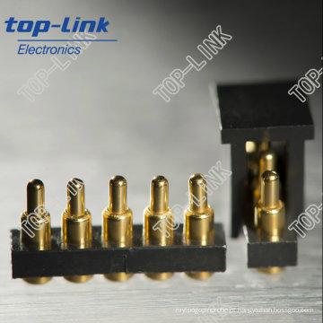Pogo Pin conector de bateria com 5 pinos, SMT, mola carregada