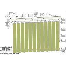 Centre ouvrant des stores verticaux pour fenêtre (VB-15)
