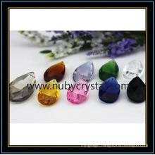 Almond Shape Crystal Lighting Bead