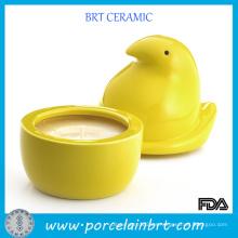 Yellow Chick Ceramic Unique Candle Jars