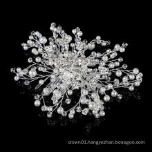 wholesale Factory supply Luxury  hair accessories pearl rhinestone bridal wedding