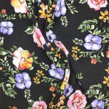 Тканая вискозная ткань Ткань с несколькими цветочными принтами