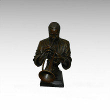 Büsten Messing Statue Trompete Dekoration Bronze Skulptur Tpy-744
