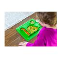 Niedliche Dinosaurier-Silikon-Saug-geteilte Platten für Babys