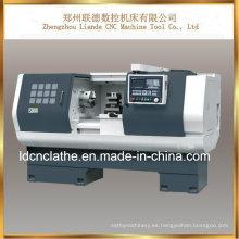 Torno promocional del CNC de la precisión del precio bajo para trabajar a máquina el metal