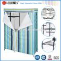 DIY Bedroom Furniture Steel Wardrobe Closet Rack with T/C Canvas Cover
