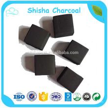 Material de madera dura y forma de briqueta Hookah Shisha carbón de leña sin humo Mejor calidad para carbón de leña redondo de bambú