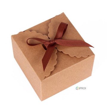 Kraft Kraft Paper Folding Gift Box Makanan