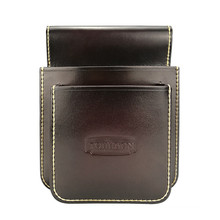 Tourbon hunting dark brown leather cartridge bag shooting shell pouch