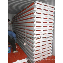 Color Coated Stahlblech EPS Sandwich Panel Lowes Günstige Wandverkleidung