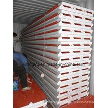 Hoja de acero recubierta de color Panel de sándwich EPS Paneles de pared baratos de Lowes