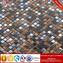 China Fabrik Lieferung gemischt Glas Hot - schmelzen Mosaik Boden Wand Fliesen Design