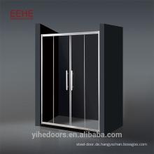 Fächerförmiger Aluminiumrahmen Schiebeduschkabinenrahmen Begehbare Dusche